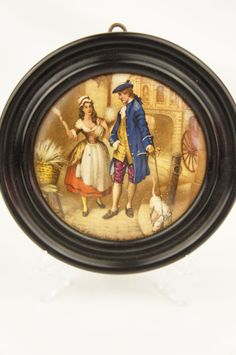 19th Century Framed Prattware Pot Lid Cries of London Series Who Will Buy My Lavender Decorative by TheLotAntiquesandArt