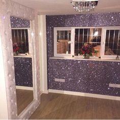 Glitter Wall - Home Decoration 17 Glitter Bedroom, Glitter Paint For Walls, Glitter Curtains, Rustoleum Glitter Paint Wall, Sparkle Wall Paint, Glitter Home Decor, Glitter Decorations, Glitter Fabric, Room Ideias