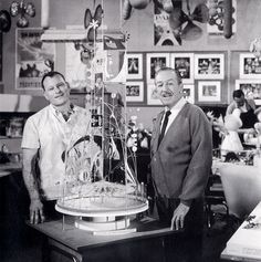 Walt Disney and Rolly Crump