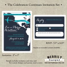 The Celebration Continues Destination Wedding Set For An At Home Reception By Merrily Designs On Etsy Merrilydesigns
