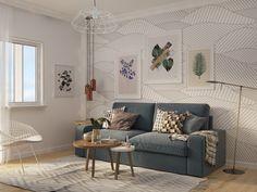 Воздушная мебель. Однушка 35 м² в скандинавском стиле - Mossebo