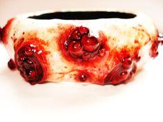 boil bracelet,zombie jewelry, horror art, wearable art,zombiehead.etsy.com