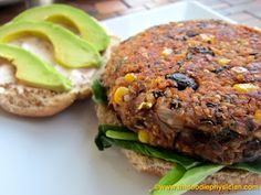 The Foodie Physician: Dining with the Doc: Black Bean & Quinoa Veggie Burgers (use gluten-free oats)