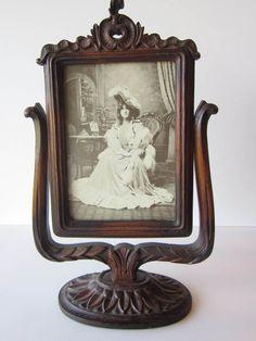 Vintage Carved Oak Victorian Picture Frame. $55.00, via Etsy.