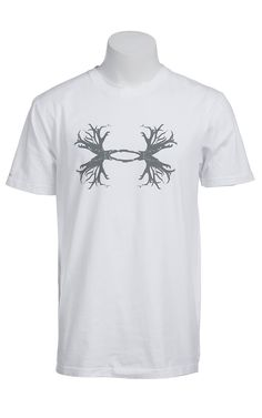 Under Armour® Men's White with Grey UA Ghost Antler Logo T-Shirt