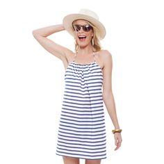 Blue Stripe Fanning Dress
