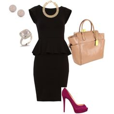 Sassy businesswoman, created by #jtesterman on #polyvore. #fashion #style Alice + Olivia Christian Louboutin