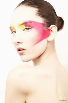 Fashion model Lucie Hruba.