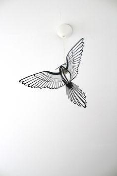 Image of BIRD LIGHT - BLACK 45Euro including shipping