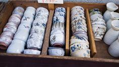 Kyoto, Japan. Souvenir Shopping Snapshot: Browsing Kiyomizu pottery