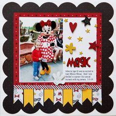 Disney two pic layout Great Scrapbook page idea!m Davis scrapbook genera. Vacation Scrapbook, Disney Scrapbook Pages, Scrapbook Sketches, Scrapbook Page Layouts, Scrapbook Paper Crafts, Scrapbook Cards, Scrapbooking Ideas, Scrapbook Photos, Scrapbook Cover