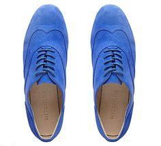 Electric blue brogues