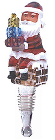 Wine Stoppers - Handblown Santa with Presents Wine Stopper by Yurana Designs  BS050 -- To view further for this item, visit the image link.