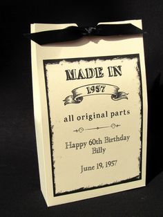 Adult Birthday Favors | 60th Birthday Ideas | Party Favors For Adults | 80th Birthday Favors | by Abbey and Izzie Designs