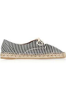 Tabitha Simmons Dolly striped silk espadrilles | NET-A-PORTER