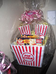 """She's About To Pop!"" Fun Baby shower prize, just 'cause everyone loves popcorn! ...right?"