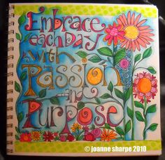 """""""Embrace""""!!!   I """"love"""" this--all those """"fun"""" colors--and I bet it can be done on a canvas!!!   ;-)"""