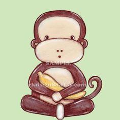 Monkey nursery art print baby boy nursery decor by rkdsign88, $9.00
