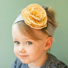 DIY toddler girl flower headband