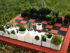 Garden accessories you can make with a 3D Printer - including this cool planter chess set! Via @Robin S. S. Horton @Robin S. Horton @Urban Gardens