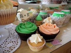 Engagement cupcakes i could make topper with their initials
