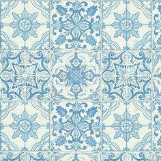 Papel Pintado azulejo