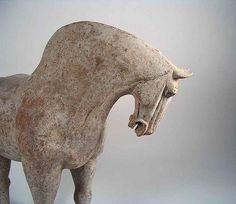 China. Tang Dynasty Pottery Horse 618-906 A.D