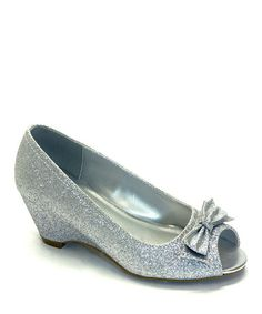 Loving this Silver Glitter Maybe Dress Shoe on #zulily! #zulilyfinds
