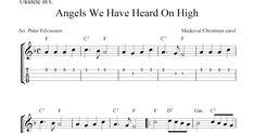 Angels We Have Heard On High, free Christmas ukulele tab sheet music Ukulele Chords Songs, Ukulele Tabs, Guitar Songs, Christmas Ukulele, Lead Sheet, Christmas Carol, Xmas, Sheet Music, Mandolin