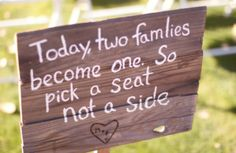 AMAZING!  I LOVE this sign!!!!!!  #rusticwedding #weddingsigns #love