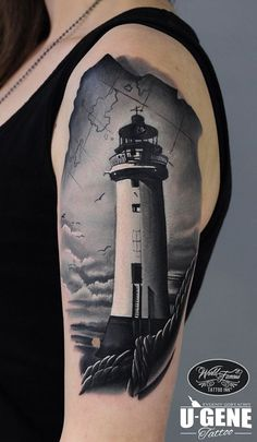 Lighthouse Tattoo http://tattooideas247.com/lighthouse-arm/