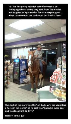 riding a horse in store funny