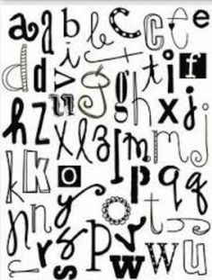Pin by becca thompson on clip art samples templates lettering doodle alphabet lower case letters great for doodling text on your gelli printed cards journal pages or mixed media artwork altavistaventures Gallery