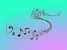 Wave Colorful Music Symbols Something interesting