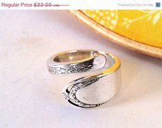 BLKFRIDAY SALE Wrap Spoon Ring Size 9 Lovelace by OliveSpoonStudio, $17.60