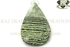 Green Zebra Jasper Faceted Focal Pear Pendant (Quality A) Shape: Focal Pendant Piece Length: N.A. Weight Approx: 14 to 16 Grms. Size Approx: 33x54 mm Price $15.00 Each Strand