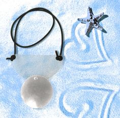 Handmade plexiglass & metal necklace