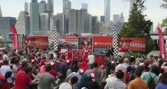 Banco Santander sorprende a Fernando Alonso con un flashmob