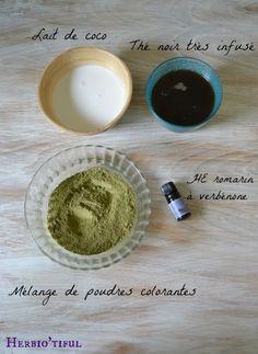 Ma recette de henné pour cheveux bruns ou noirs - Comment je réalise mon henné ? Comment l'appliquer ? Comment faire pour ne pas assécher ses cheveux ?