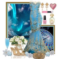 Zuhair Murad - Elegance by bren-g on Polyvore featuring moda, Marchesa, Versace, Kwiat, Too Faced Cosmetics, Revlon, OPI, NDI, Zuhair Murad and René Caovilla