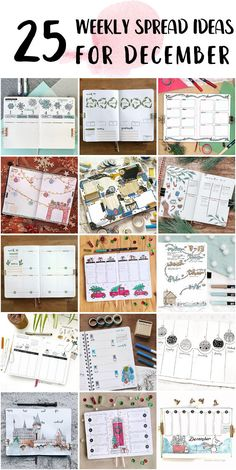 Cute Bullet Journal Weekly Spread Layout Step By Step - Dotted Bullet Journal Bullet Journal Weekly Spread Layout, Dotted Bullet Journal, Bullet Journals, Shooting Star Wish, Happy December, Bubble Letters, Draw On Photos, New Theme, High School Students