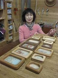 2010年4月8日 みんなの作品【額・鏡・壁飾り】|大阪の木工教室arbre(アルブル)