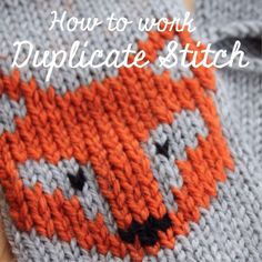 I will be adding this to a little boy's sweater! fox How to Work Duplicate Stitch | Video Tutorial by Jessica Joy