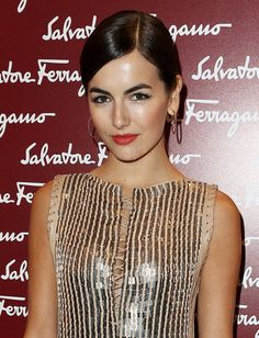 Always a classic beauty, Camilla Belle balanced her light-reflecting cocktail dress with pulled-back hair. A bold red lipstick look added a gorgeous pop of Camilla Belle, Best Bridal Makeup, Wedding Makeup Tips, Wedding Makeup Looks, Make Up Looks, Pixie, Sleek Hairstyles, Layered Hairstyles, Braut Make-up