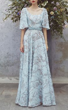 Get inspired and discover Luisa Beccaria trunkshow! Shop the latest Luisa Beccaria collection at Moda Operandi. Day Dresses, Dress Outfits, Fashion Dresses, Formal Dresses, Pretty Outfits, Pretty Dresses, Short Sleeve Dresses, Dresses With Sleeves, Sweet Dress