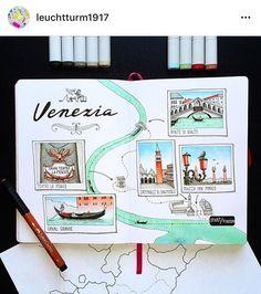 Bullet Journal Travel, Bullet Journal Ideas Pages, Bullet Journal Inspiration, Book Journal, Travel Journals, Travel Sketchbook, Sketchbook Inspiration, Marker Art, Memory Books