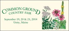 Common ground county fair in Maine, gardening/farming/livestock demos including organic