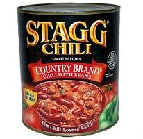 Stagg Country Brand Chili with Beans.  http://affordablegrocery.com