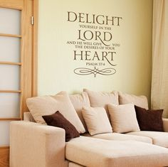Wonderful Scripture Wall Decals   See Bible Verse Wall Lettering Ideas By WiseDecor.  This Company Lets You Measure Your Wall U0026 Customize The Size Of Your Decal!