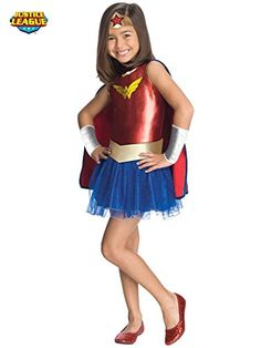 Justice League Child's Wonder Woman Tutu Dress - Medium >>> For more information, visit image link. (This is an affiliate link) #CostumesforKids